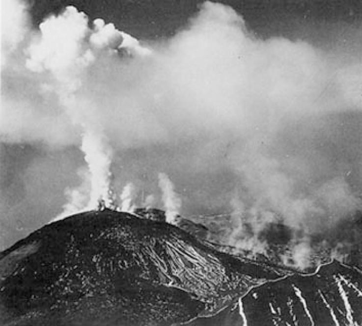 L'emissione di lave del 19 marzo 1944 (Imbò, 1949)