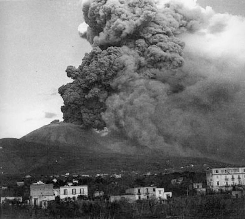 La nube eruttiva del 23 marzo 1944 (Imbò, 1949)